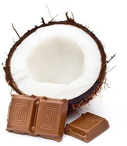 kokos strúhaný + čokoláda